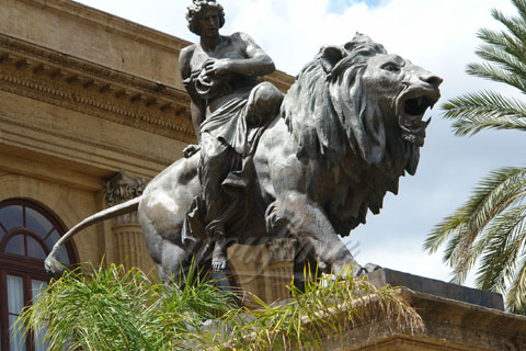 Handmade Best Quality metal craft bronze lion sculpture for sale