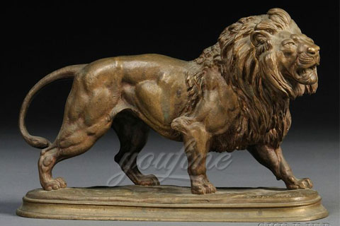 High quality large bronze lion statues for park