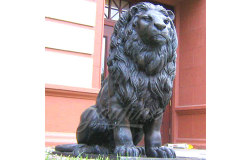Manufactured metal crafts cast antique bronze lion sculptures