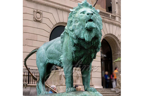 Popular designs life size bronze lion sculptures for decoration