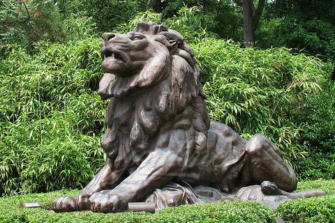 Popular animal art of antique modern bronze lion sculptures for sale