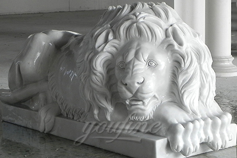 New design life Size marble Lion statues outdoor