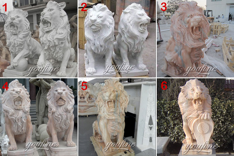 stone lion statue for outdoor