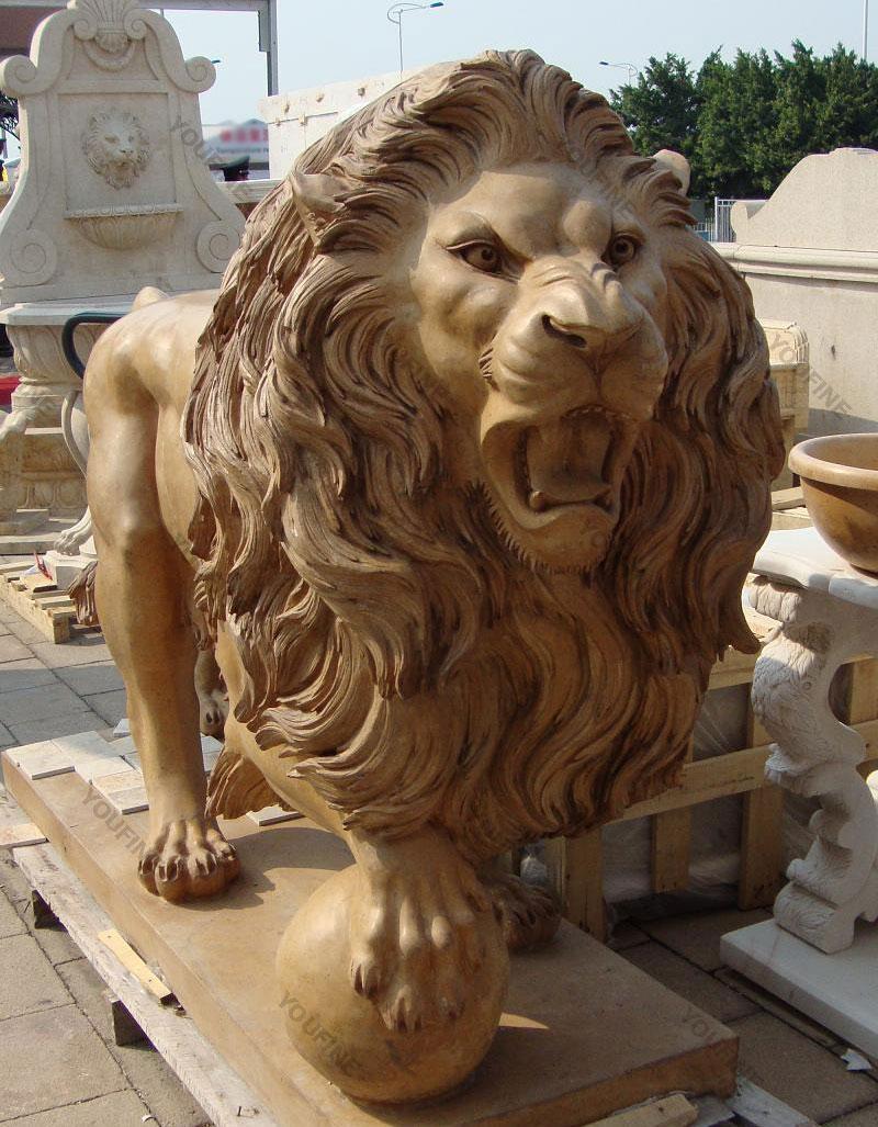 Large Concrete Roaring Garden Lion Statues For Outdoor