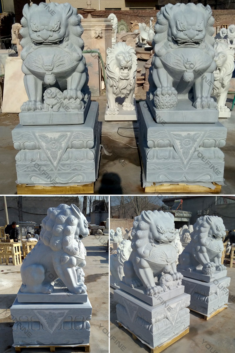 chinese fu dog statue for garden outside