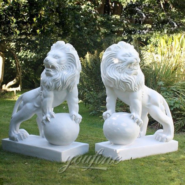 marble lion statue outside for home